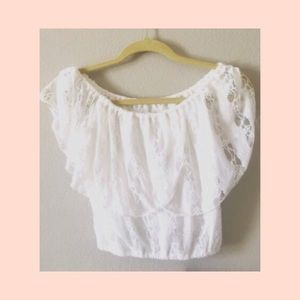 Abercrombie & Fitch   Boho Lace Crop Top XS